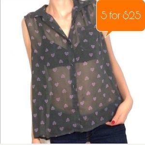American Eagle sleeveless pleated back blouse
